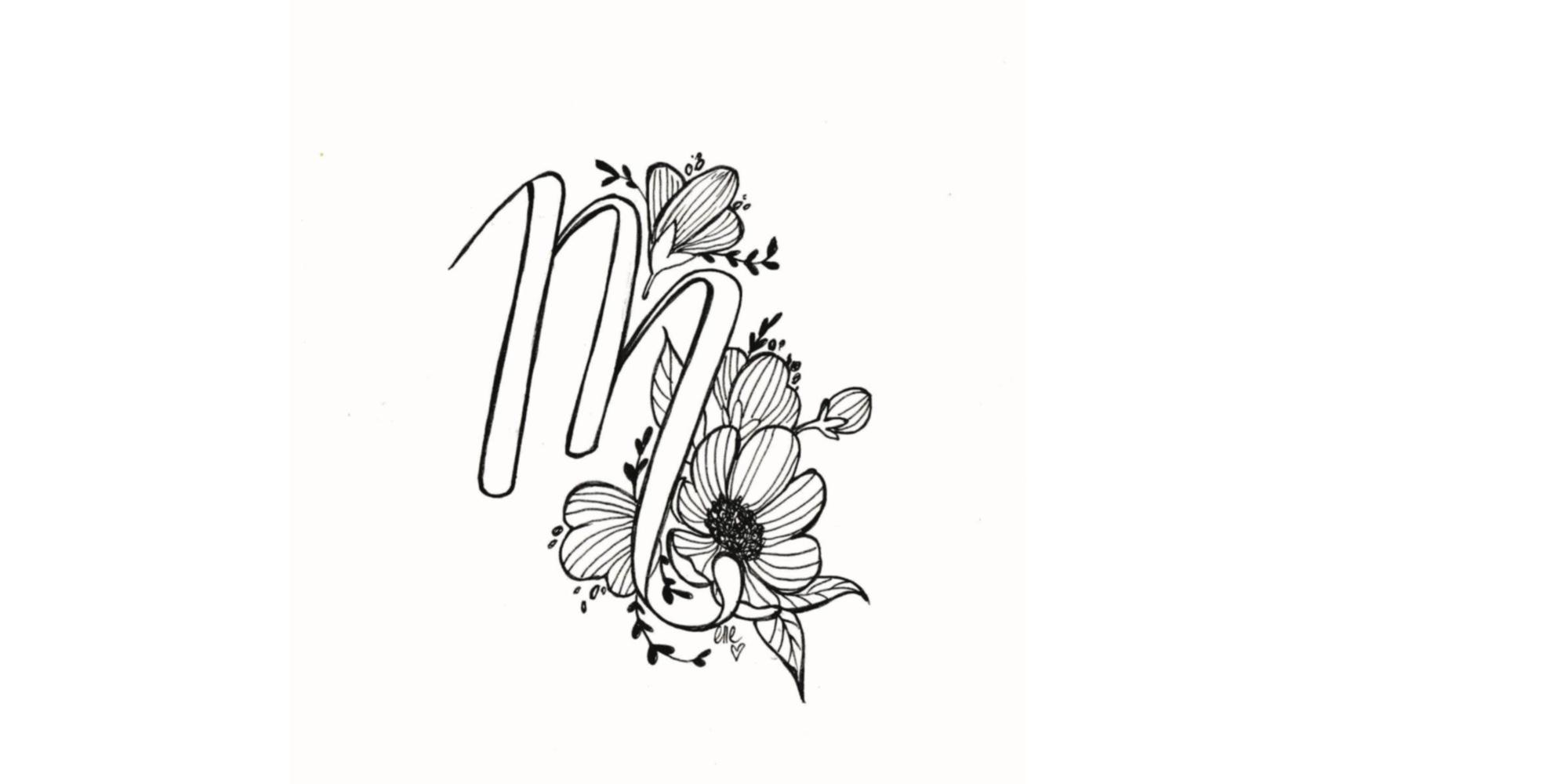 Lettering floral
