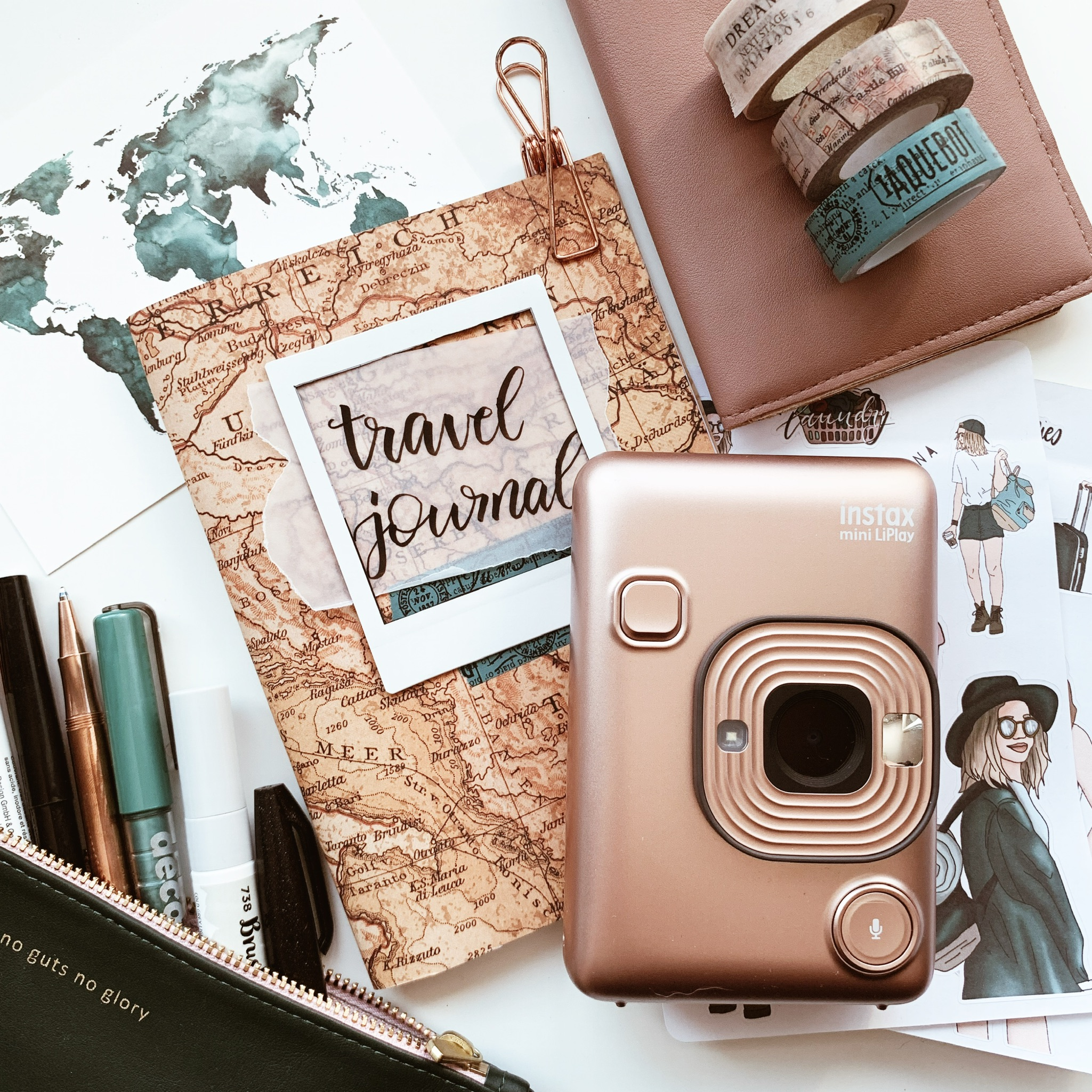 Travel Journal Workshop Instax Mini Sofortbildkamera